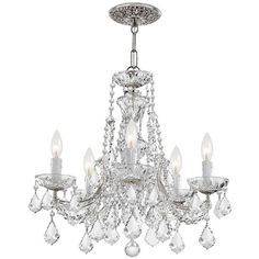 Classic Parisian Crystal Chandelier (2 195 AUD) ❤ liked on Polyvore featuring home, lighting, ceiling lights, home decor, decor, lamps, crystal hanging lights, crystal lamps, crystal glass lamp and glass crystal chandelier