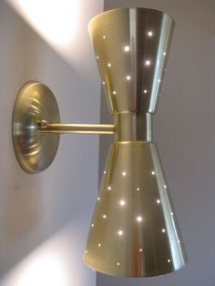 Master bedroom [Mid Century Modern Double Cone Wall Sconce Wall Lamp by nwfilm, $115.00]