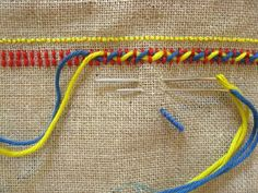 Interesting stitch combination but I don't like the colours.