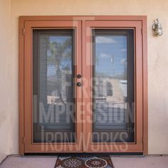 Clear View Iron Security Door by First Impression Ironworks provides security and beauty to your home. #irondoors #irondoor #IronEntryDoor #IronEntryDoors #homestyle #frontdoors #ContemporaryStyle #FrontDoorEnvy #CurbAppeal #SecurityDoor #SecurityDoors #MadeInUSA
