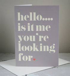 personalised your song card by modo creative | notonthehighstreet.com