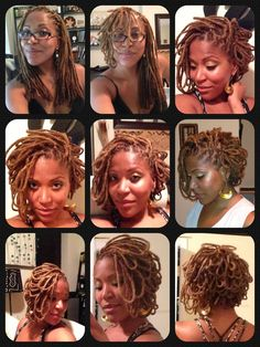 Petaled locs. To learn how to grow your hair longer click here - blackhair.cc/1jSY2ux