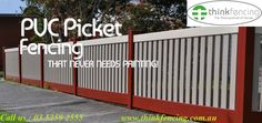 #PVC #Plastic #Picket #Fencing Supplier & #Manufacturer in Australia .Made from super durable high tech composites, our picket fences retain their good looks year in, year out. And our unique design means our picket fences look just as good from the front or back.