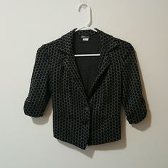 Cute Polka Dot Blazer/ Jacket 3/4 Sleeve. Perfect condtion. Black band in the back Wet Seal Jackets & Coats Blazers
