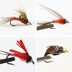 Anmuka 40pcs 10 various fly lure Single hook Fishing supplies Fishing Bait Artificial lure Fishing tackle flies for fly fishing