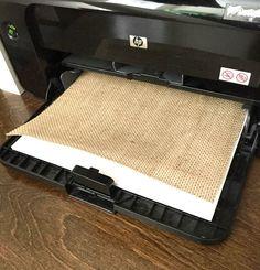 How to Print on Burlap | julesandco.net More