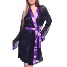 Hot Sexy Lingerie M-XL Satin Lace Black Kimono Intimate Sleepwear Robe Sexy Night Gown sex products W1