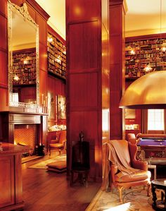 It should come as no surprise that this bar is filled with books—lots of them. Channeling the vibe of an English club, the Library Bar features leather sofas and wing chairs, a grand fireplace, and an antique billiard table.  356 West 58th Street, New York; hudsonhotel.com