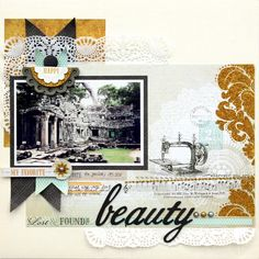 great colors, love the details (Piradee Talvanna) #scrapbooking