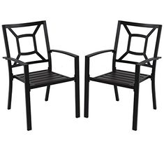 Black Patio Dining Chair with Square Back – 2 Pack Specifications: Overal Size: x x Color: Black Feature: Powder coated Weight capacity: 250 lbs