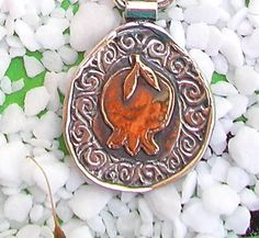 Sterling 925 silver Pendant with gold by HedvaElanyJewelry on Etsy