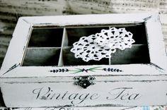 Vintage fragrance of tea Shabby chic, decoupage Wooden Tea Box, Vintage Tea, Decoupage, Decorative Boxes, Shabby Chic, Fragrance, Crafty, Paper, Handmade