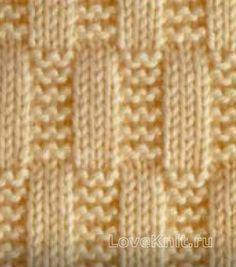 Вязание спицами узор лицевая гладь №3973 схема