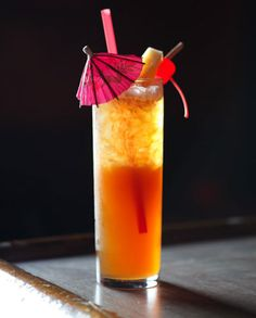 Made from sugar cane, rum can range in character from crystal-clear to dark brown, bright and floral to smoky and rich, making it the perfect base for a variety of cocktails from refreshing punches to irresistible frozen concoctions. We've collected over 25 rum cocktail recipes in this collection.