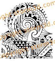 polynesian tribal shark teeth tattoo