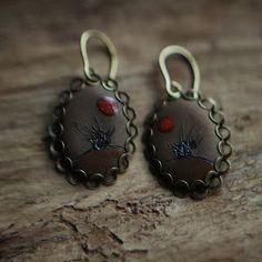 Wierzby. kolczyki. ceramika / Willow. earrings. ceramic. /// http://karolina-g.blogspot.com/2013/11/jesienne-wierzby.html