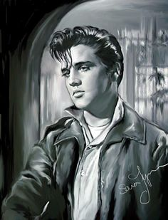 Sara Lynn is my favorite Elvis artist. Her work is spot on and so true to who he was for the short time he was here. Elvis Tattoo, Elvis Presley Pictures, Young Elvis, Celebrity Drawings, Portraits, Graceland, Tarzan, Caricatures, Rock N Roll