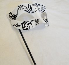 Bella Black and White Masquerade Mask by SocietyCarnivale on Etsy, $27.00