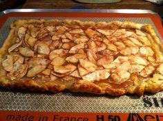 Rustic Apple Cinnamon Galette made on Silpat