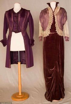 Plum Afternoon Dress and Jacket, New York, circa 1912, via Augusta Auctions.