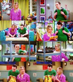The Big Bang theory- penny and Sheldon working together