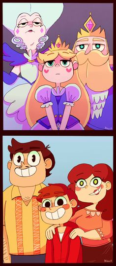 Family potraits by Caramelkeks on DeviantArt. I dont watch this show, but the pic was interesting to me