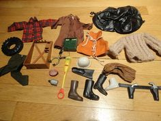 Vintage Original G.I. Joe Military Toy Accessories and Apparel