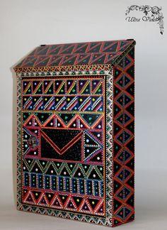 design briefkasten mit zeitungsfach, designer motivbriefkasten mit, Moderne