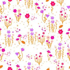 Pink Flowers Canvas Print by Kat Blaque http://blaquekat.tumblr.com http://lookbookillust.tumblr.com/ http://katblaque.tumblr.com/ https://www.facebook.com/kat.blaque.5 https://twitter.com/kat_blaque https://www.youtube.com/user/TransDIYer