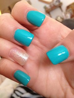 blue nails i had recently blue nails fake long