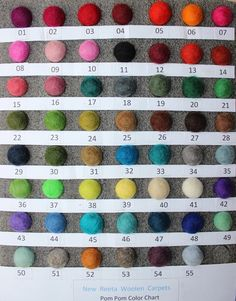 Rectangle Felt Ball Rug Custom Made Australia