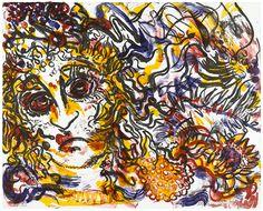 Karin Pliem, Medusa, 2020, Lithografie in 4 Farben für die Edition women III von artinprint. Gedruckt auf Magnani Incisioni 300g, in einer Auflage von 33 + 5AP + 2PP + 2EP, von der Künstlerin signiert, nummeriert und betitelt. Erhältlich um EUR 390 bei www.artinprint.at/shop Medusa, Painting, Art, Woodblock Print, Silk Screen Printing, Printing, Art Production, Colors, Kunst