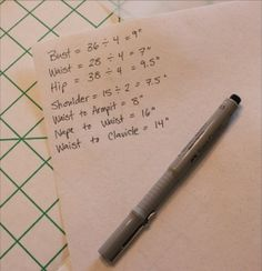 Okay, now you have a full list of bodice measurements: