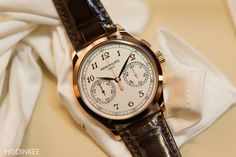 Okay, so nothing super new here, but this is the type of thing that will get a hardcore PP guy going – the 5170 has been shown in rose gold! The 5170 is, for the uninitiated, the classic manually wound, two-register, in-house chronograph from Patek Philippe. You can read a full review of it here. So what's the deal for the 5170R? Essentially you have the same watch as the last 5170G with black dial and leaf hands, but now in a rose case with silvered dial or black dial. The 5170G with white…