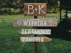 Mariage champetre signalisation
