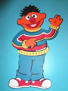 Sesame Street - Ernie Die Cut craftynightowls.blogspot.com, #ernie, #sesamestreet, #diecut