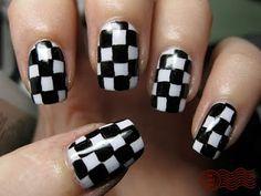 Checkered nails