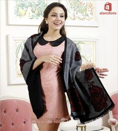 Women Real Silk Made Shawl, Wrap, Scarf, Long Length, Multiple Dressing Styles Real Natural Silk Made