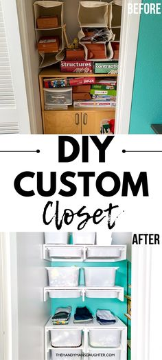 Build the closet of your dreams! This clever French cleat system allows you to change up your closet shelves as your wardrobe changes! Or combine clothes with toys for your kids bedroom closet! The possibilities are endless with this DIY custom closet system. Get the tutorial and all the details at The Handyman's Daughter!
