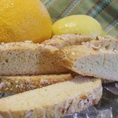 Almond Citrus Biscotti - I'm on a lemon kick this summer