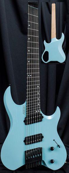 Kiesel Guitars Carvin Guitars VM7 in Light Blue Raw Tone