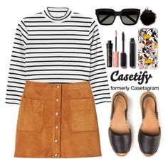 """""""Casetify"""" by gabygirafe ❤ liked on Polyvore featuring Monki, Rebecca Minkoff, Casetify, Chanel, Benefit and Yves Saint Laurent"""