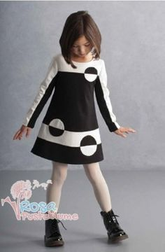 Kate Mack Kleid circles - black white Kate Mack Winter 2014/2015