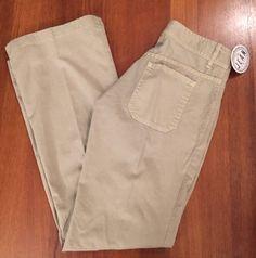 JOIE Womens Sz 25 (29x31) Khaki Buttonfly Lightweight Bootleg Pants 1A #Joie…