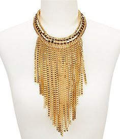 Trina Turk Fringe Statement Necklace