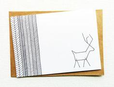 Christmas card - Card - Kerstkaart - Happy new year card - Card christmas - Holiday card - Christmas reindeer - Reindeer - xmas - Printed