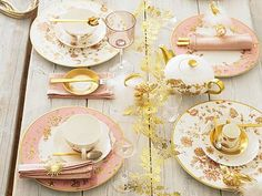 different plate patterns Place Settings, Table Settings, Wedding Reception Planning, Wedding Ideas, Wedding Inspiration, Wedding Tables, Wedding Centerpieces, Color Inspiration, Gold Table