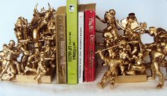 Super hero Villains against the heros hand crafted bookends monochrome would be fun to make!