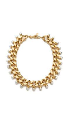 Fallon Jewelry Swarovski Immitation Pearl Biker Choker Necklace