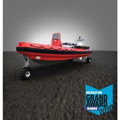 Sealegs 7.1M RIB: With a retractable all-wheel drive, launch and land just about anywhere!